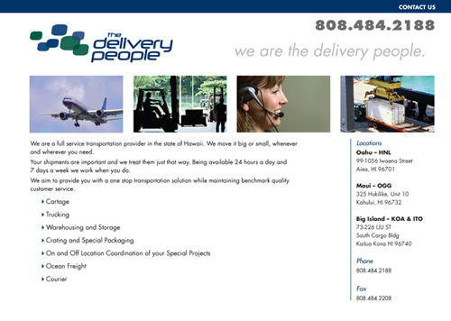 The Delivery People website