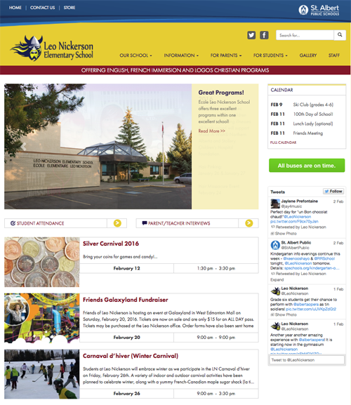 Leo Nickerson Elementary School website